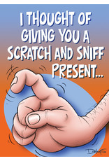OZZE I THOUGHT OF GIVING YOU A SCRATCH AND SNIFF PRESENT CARD
