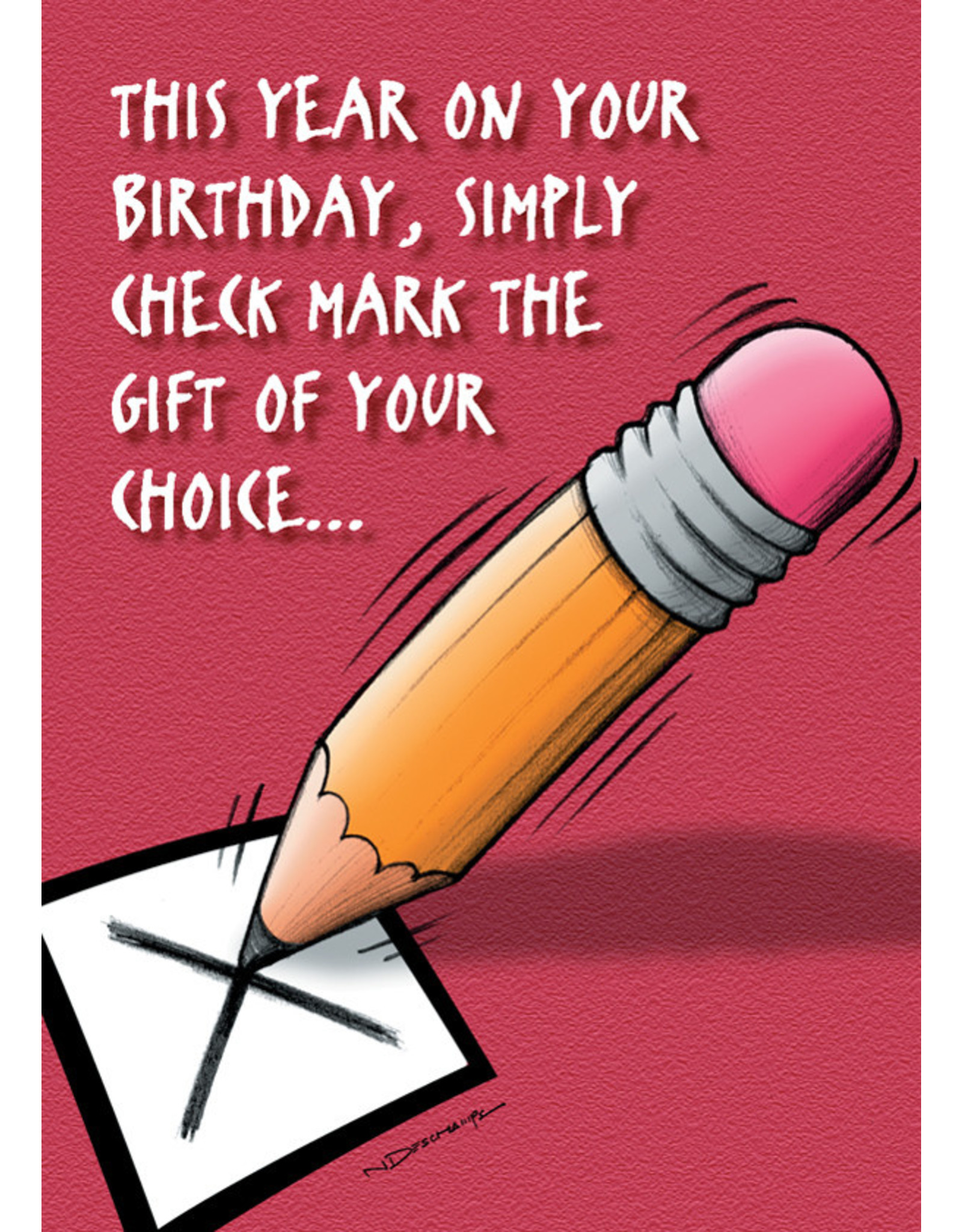CHECK MARK THE GIFT OF YOUR CHOICE... CARD