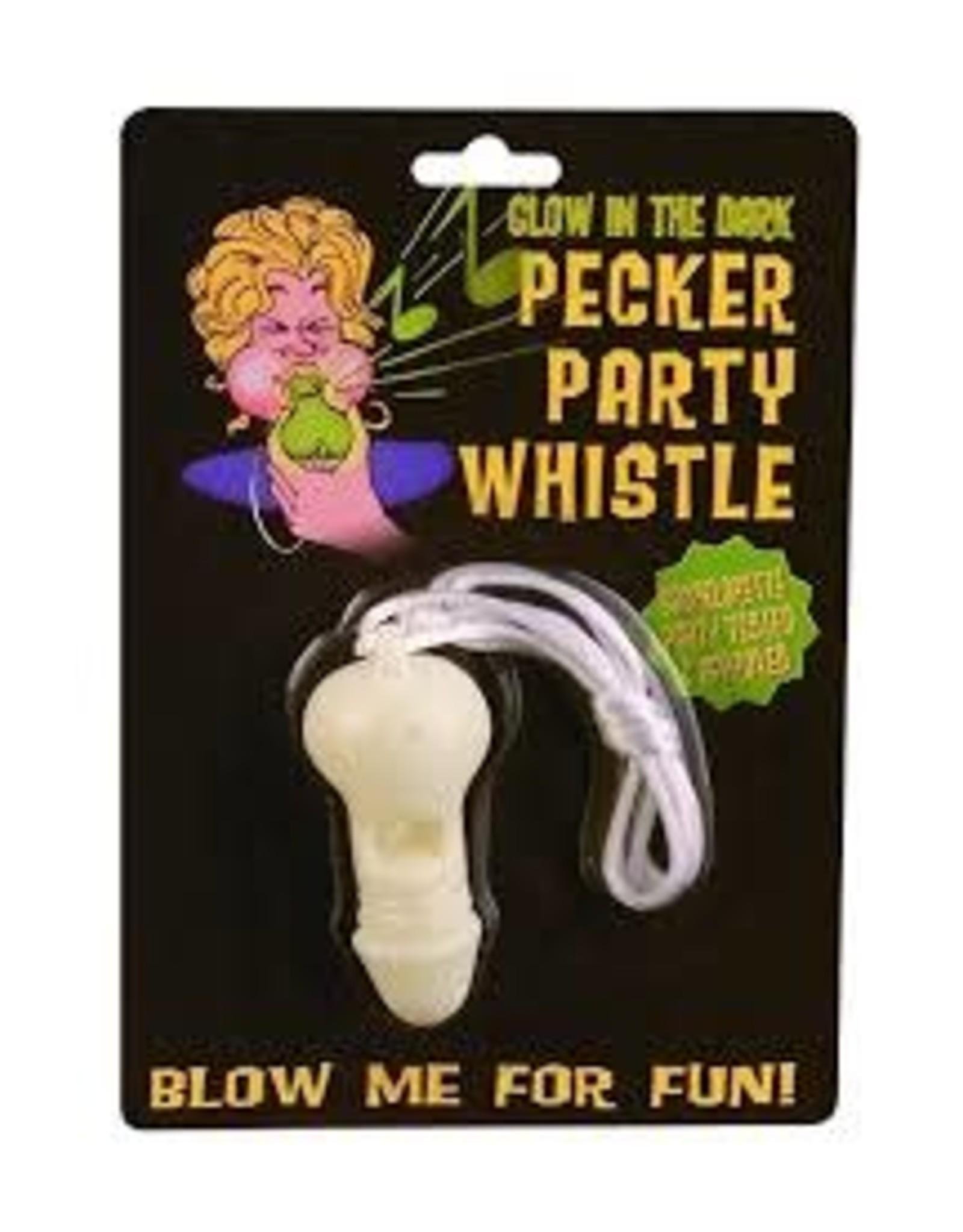 GLOW IN THE DARK PECKER PARTY WHISTLE