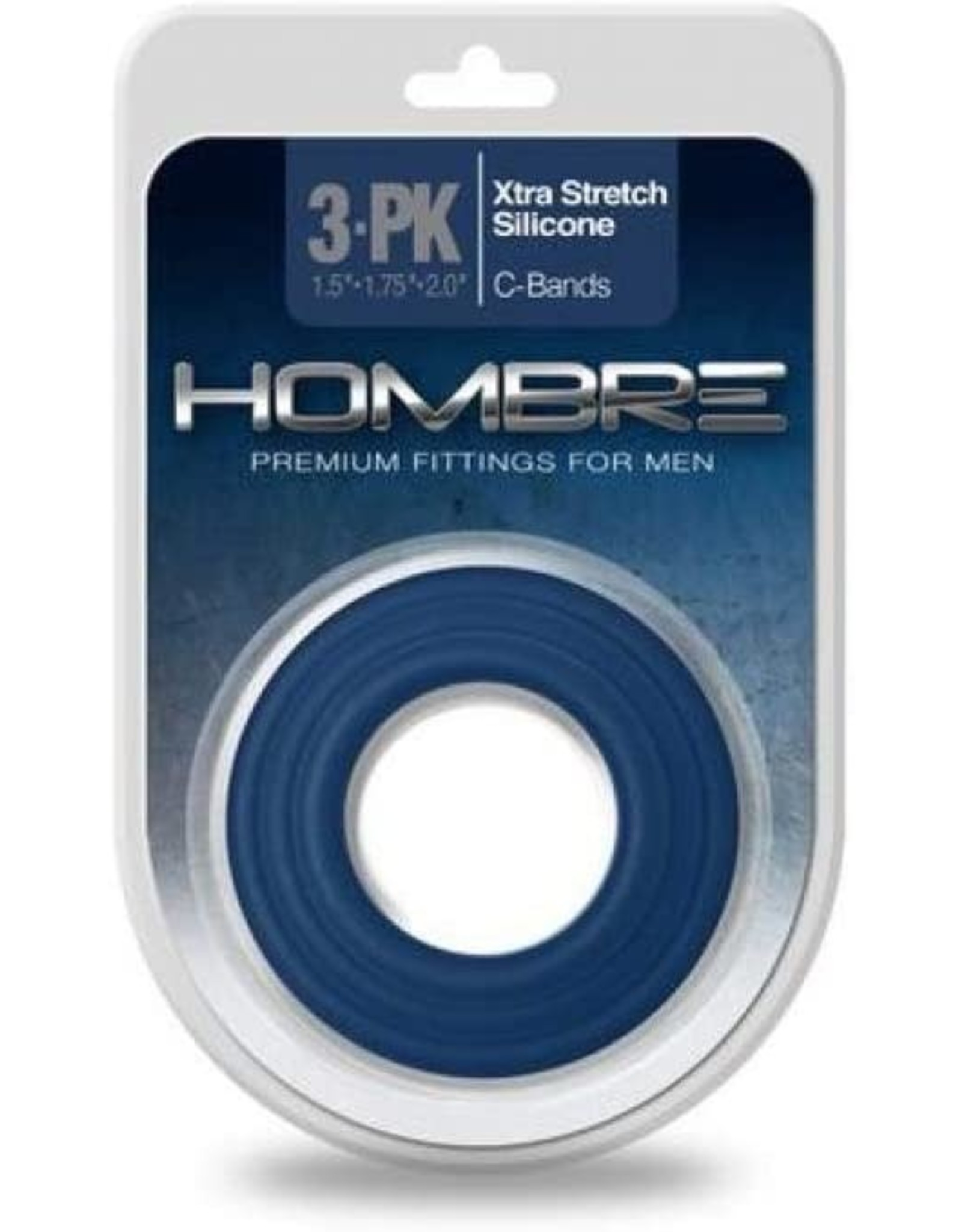 HOMBRE - XTRA STRETCH SILICONE C-BAND 3PK - NAVY BLUE