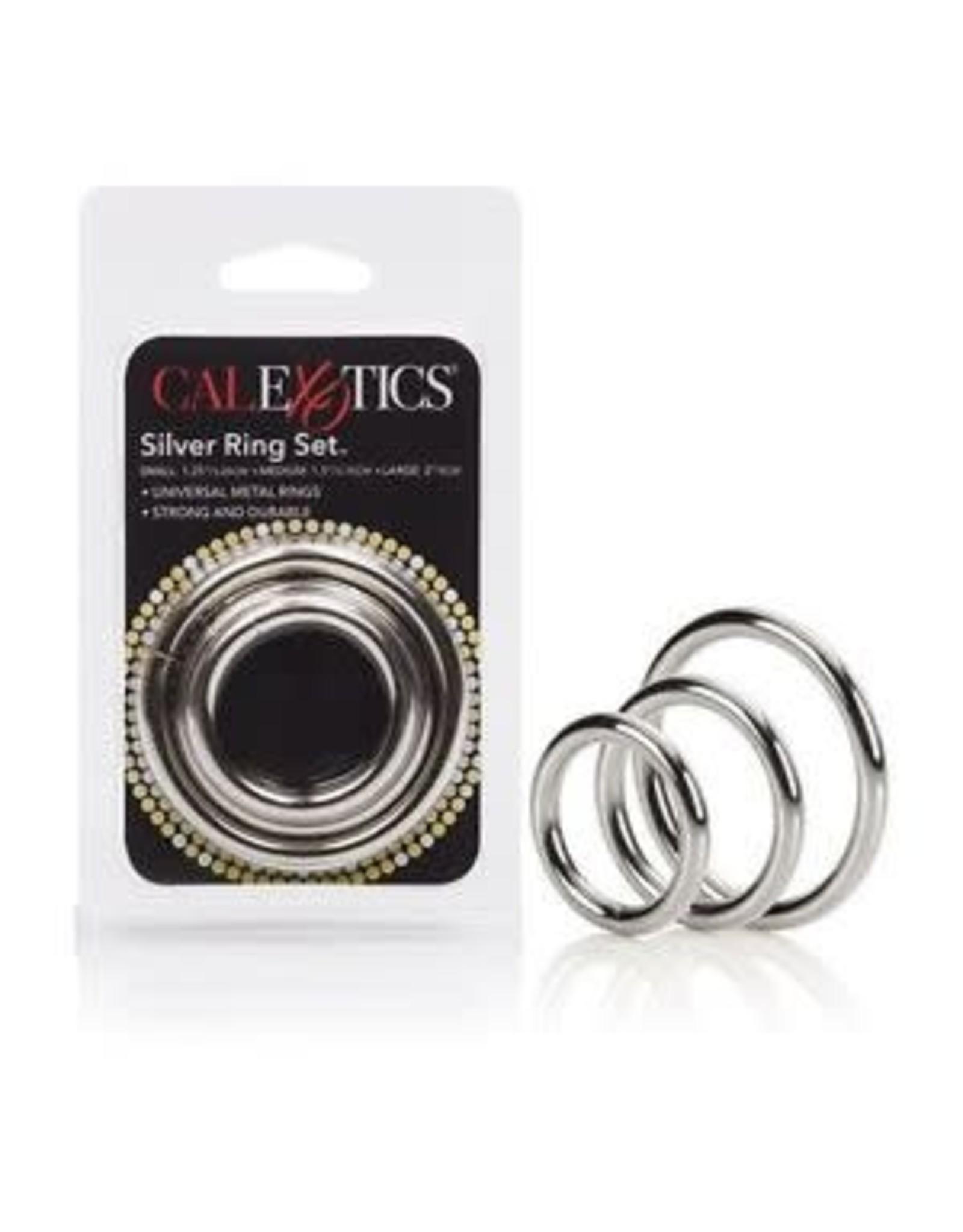 CALEXOTICS CALEXOTICS - SILVER RING SET - 3 PIECE