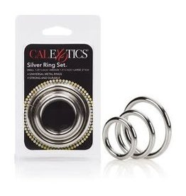 CALEXOTICS CALEXOTICS - SILVER RING SET - 3 PIECE