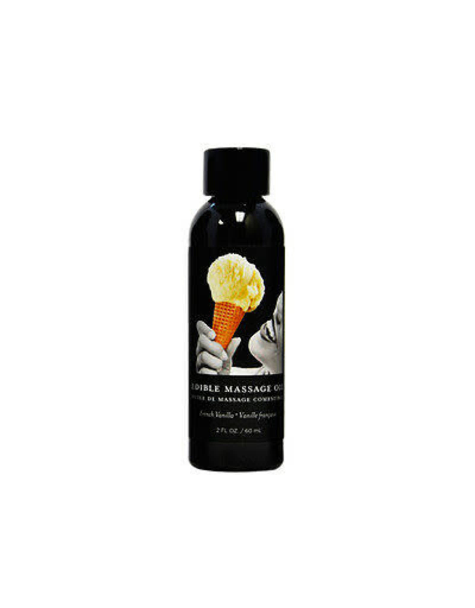 EARTHLY BODY - EDIBLE MASSAGE OIL 2OZ. - FRENCH VANILLA
