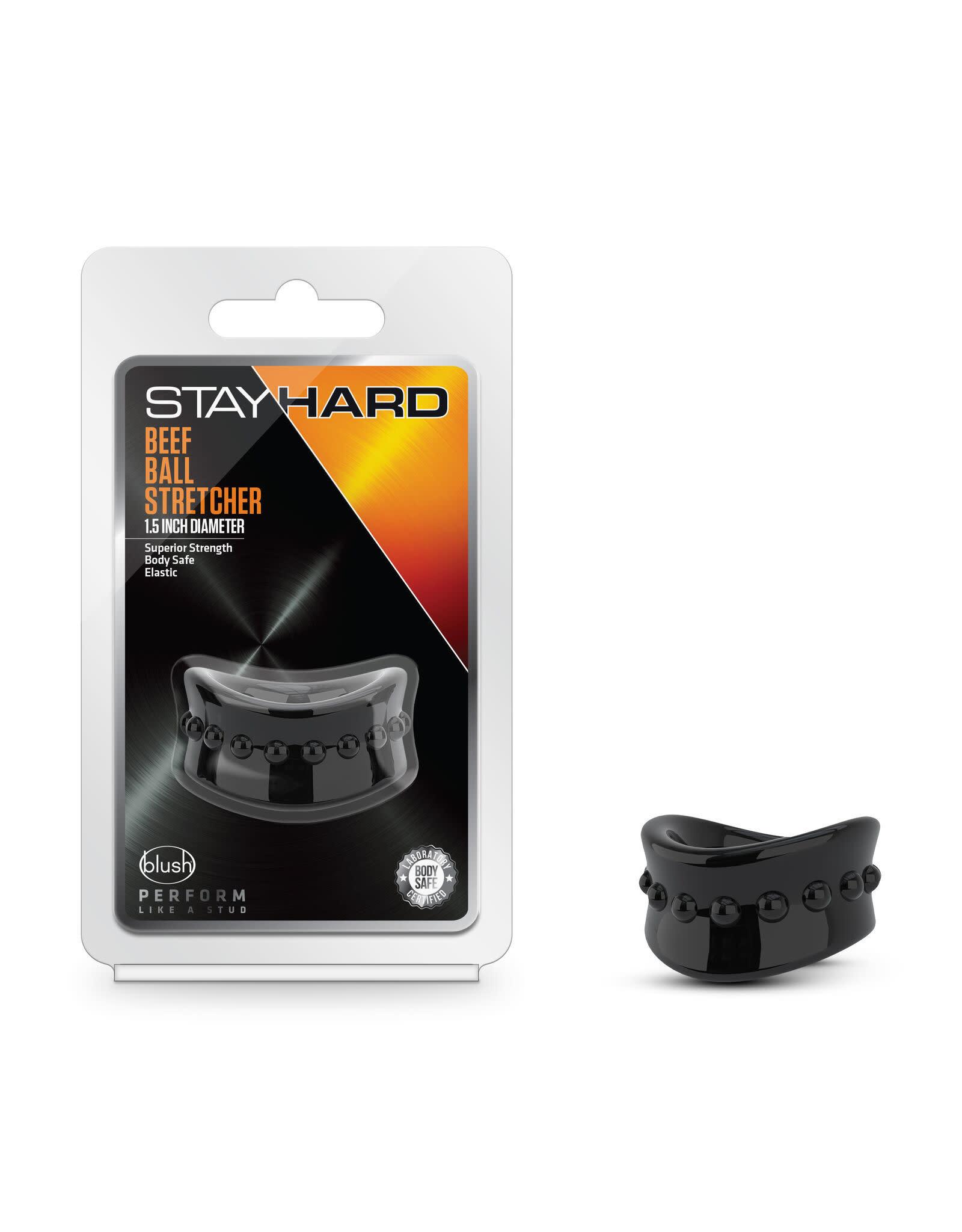 STAY HARD - BEEF BALL STRETCHER - 1.5 INCH DIAMETER - BLACK