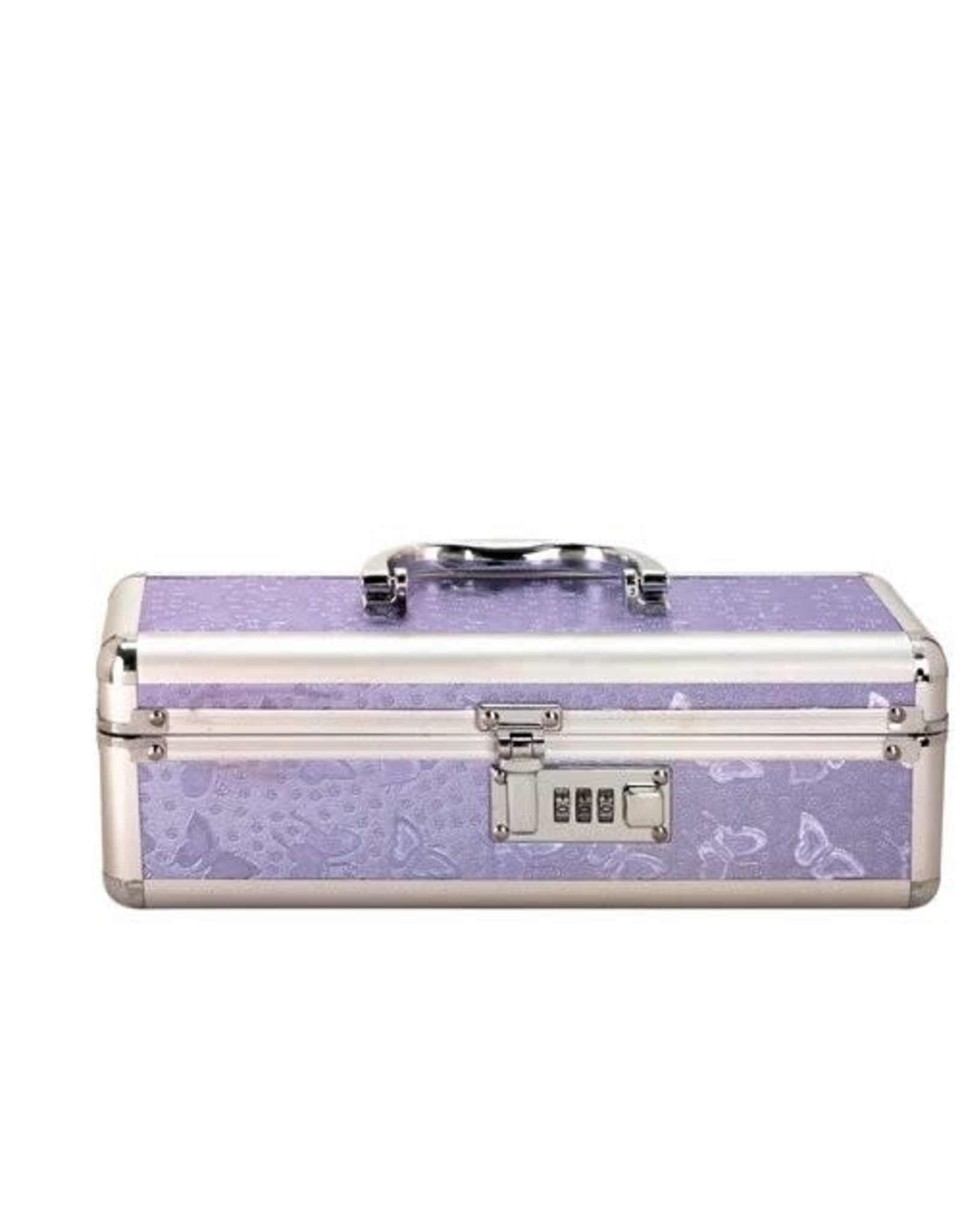 LOCKABLE VIBRATOR TOY CHEST - PURPLE