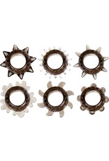LINX - TEXTURED COCK RING - PACK OF 6