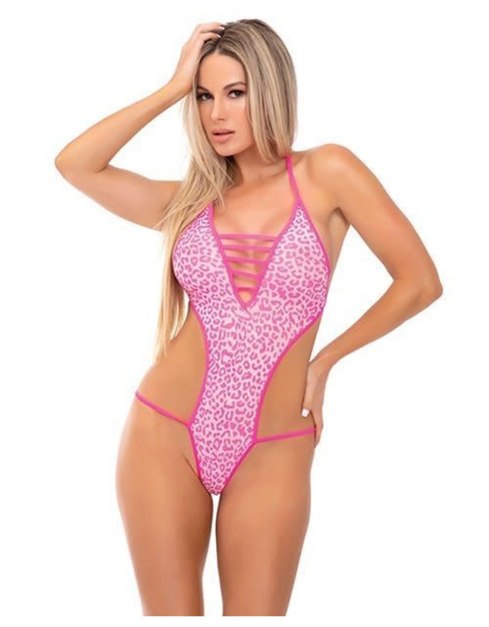 PINK LIPSTICK - V IS FOR VIXEN BODYSUIT - M/L