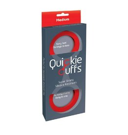 QUICKIE CUFFS - MEDIUM SILICONE CUFFS - RED