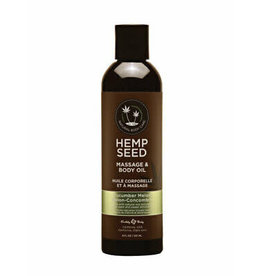 EARTHLY BODY - HEMP SEED MASSAGE OIL 2OZ. - CUCUMBER-MELON