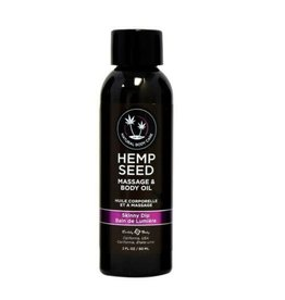EARTHLY BODIES - HEMP SEED MASSAGE OIL 2OZ. - SKINNY DIP