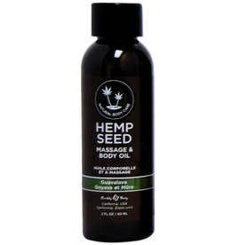 EARTHLY BODIES - HEMP SEED MASSAGE OIL 2OZ. - GUAVALAVA