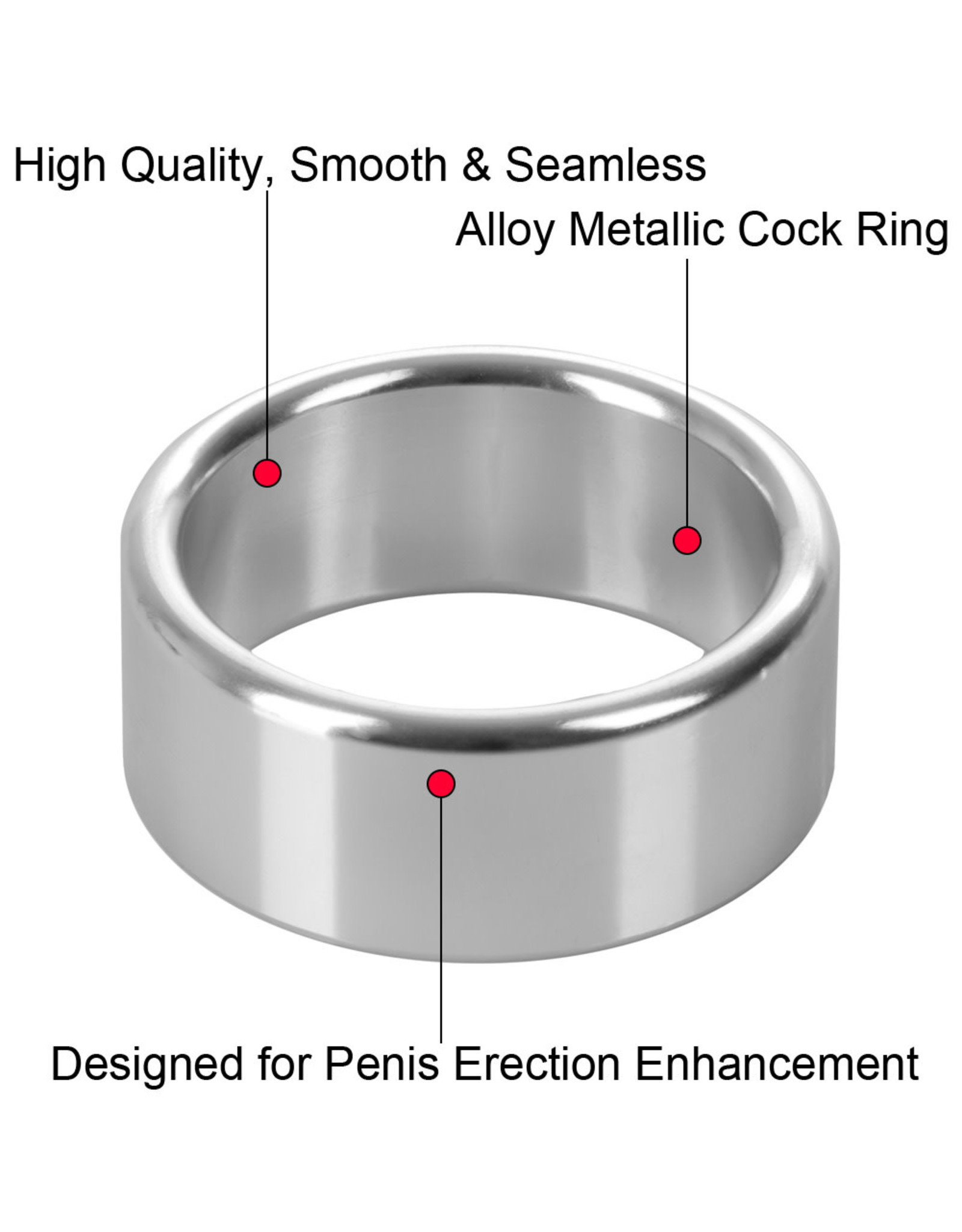 CALEXOTICS CALEXOTICS - ALLOY METALLIC RING - XLARGE 2""