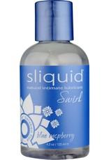 SLIQUID SLIQUID - SWIRL FLAVORED LUBE 4.2OZ/125ML - BLUE RASPBERRY