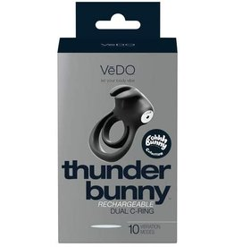 VEDO - THUNDER BUNNY RECHARGEABLE DUAL C-RING - JUST BLACK