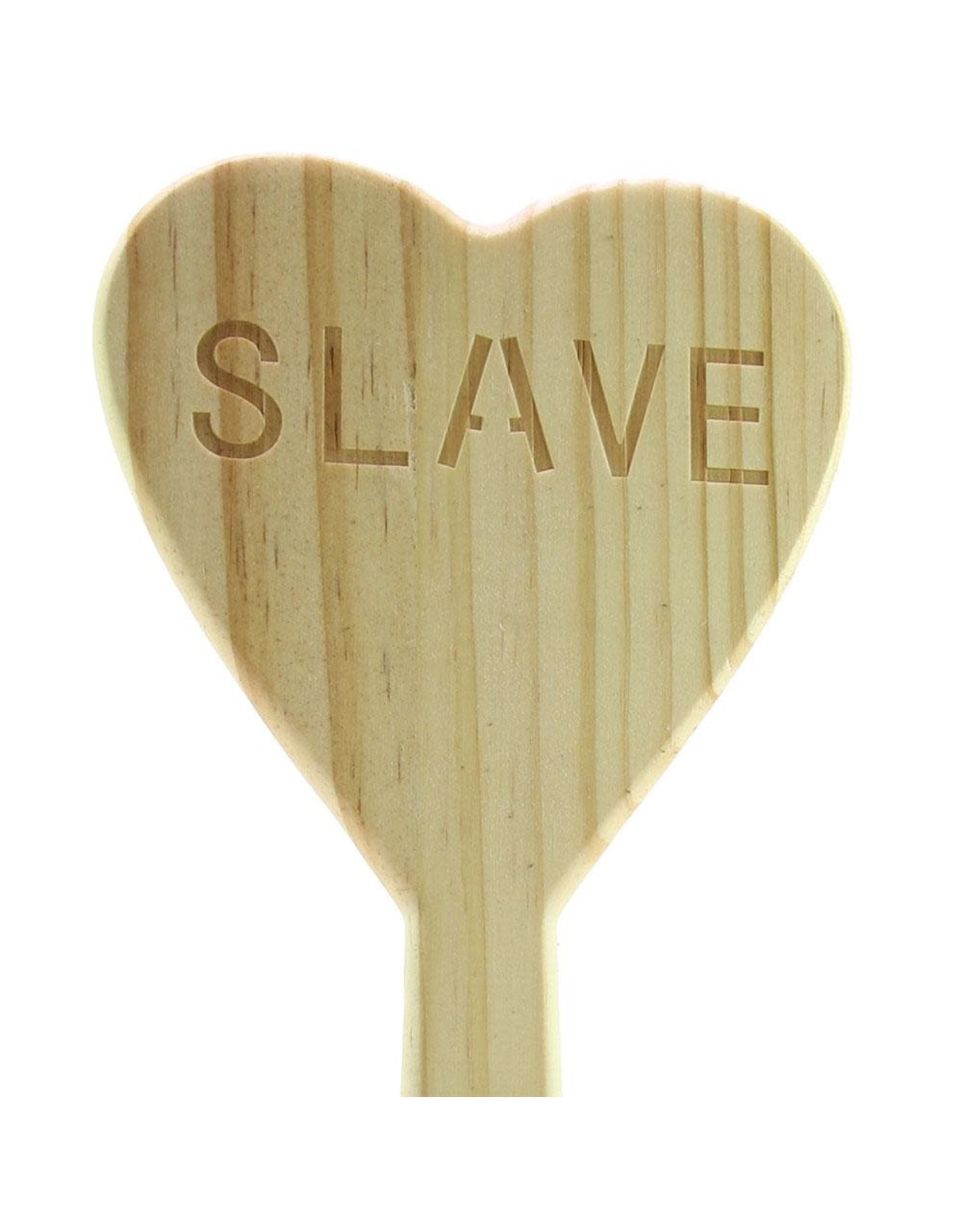 HEART SHAPED WOOD SLAVE PADDLE