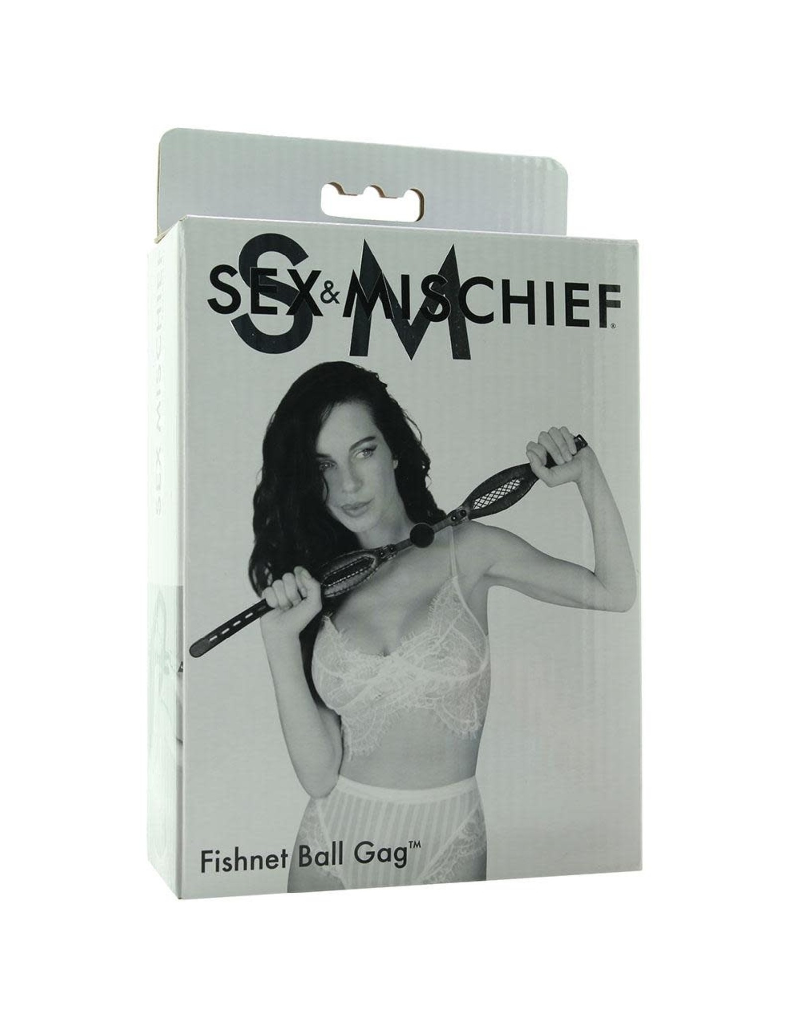 SEX & MISCHIEF SPORTSHEETS - S&M - FISHNET BALL GAG