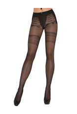 FAUX LACE UP SHEER PANTYHOSE