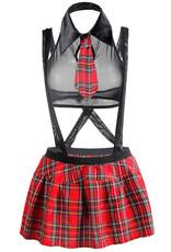 SUSPENDED SCHOOL GIRL COSTUME BLACK 4XL