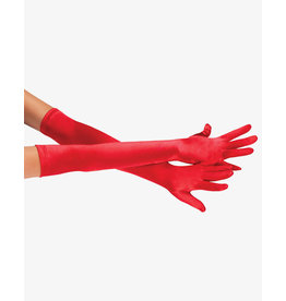SATIN LONG GLOVE RED