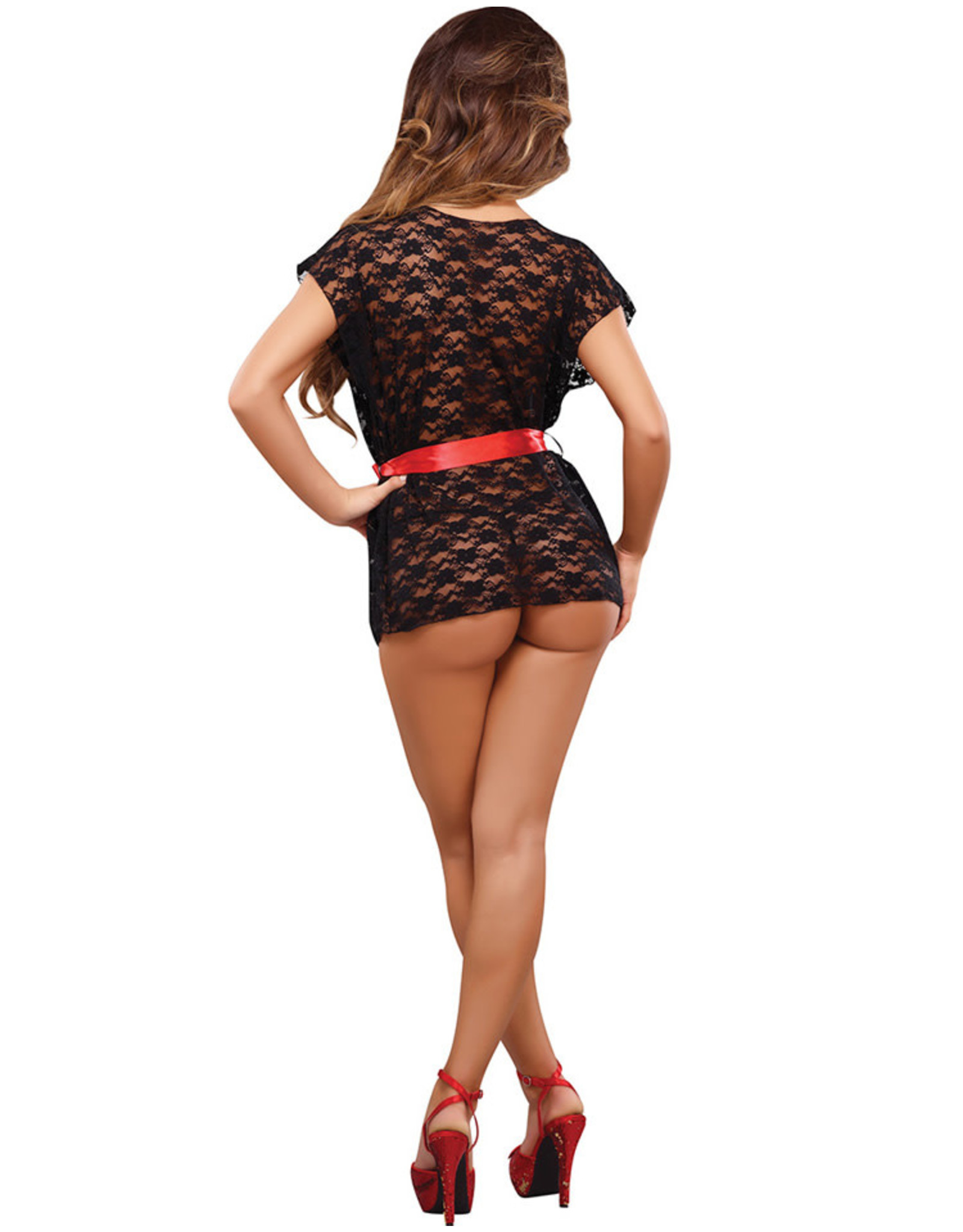 LUV LACE WRAP AND G STRING BLACK