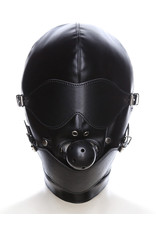 FULL COVERED HOOD MASK WITH BALL GAG