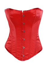 CLASSIC OVERBUST CORSET RED MEDIUM