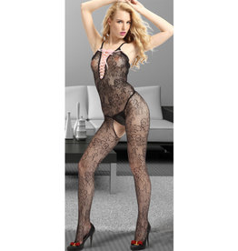 SEXY LACE UP FRONT BODYSTOCKING