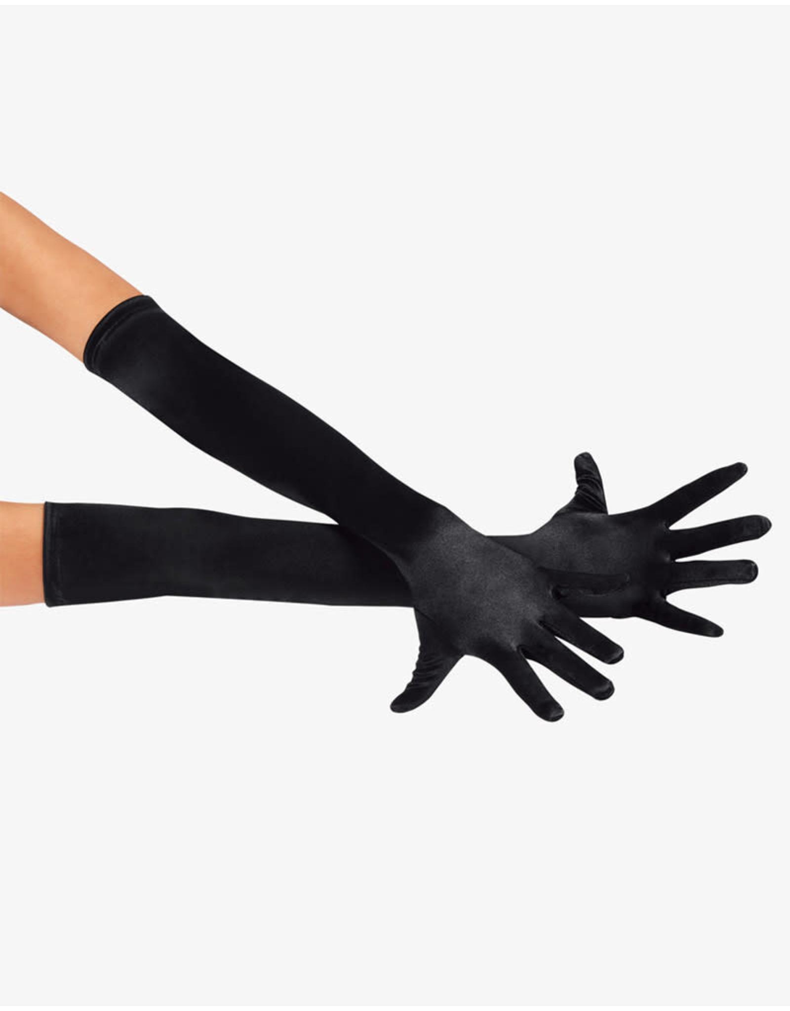 SATIN LONG GLOVE BLACK