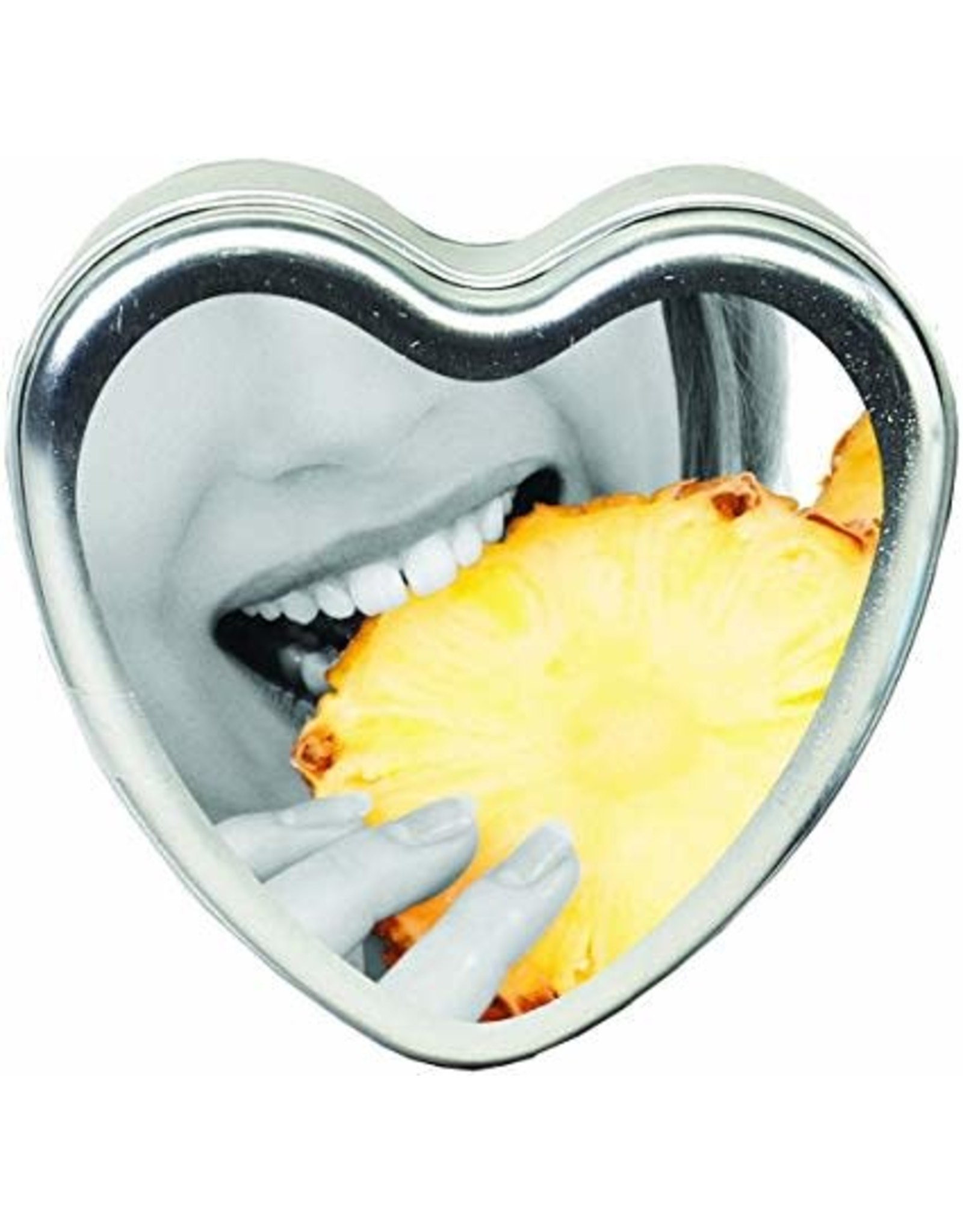 EARTHLY BODY - EDIBLE TROPICAL HEART CANDLES 4OZ - PINEAPPLE