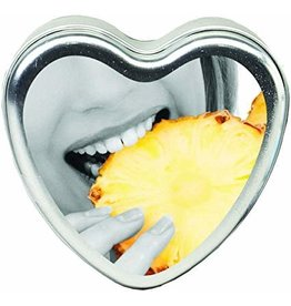 EARTHLY BODY EARTHLY BODY - EDIBLE TROPICAL HEART CANDLES 4OZ - PINEAPPLE