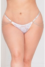 SEVEN TIL MIDNIGHT LADY OF CHAIN - WHITE G-STRING - OSXL