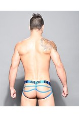 ANDREW CHRISTIAN - SLAVE NET WEB THONG W/ ALMOST NAKED BLACK/BLUE SMALL