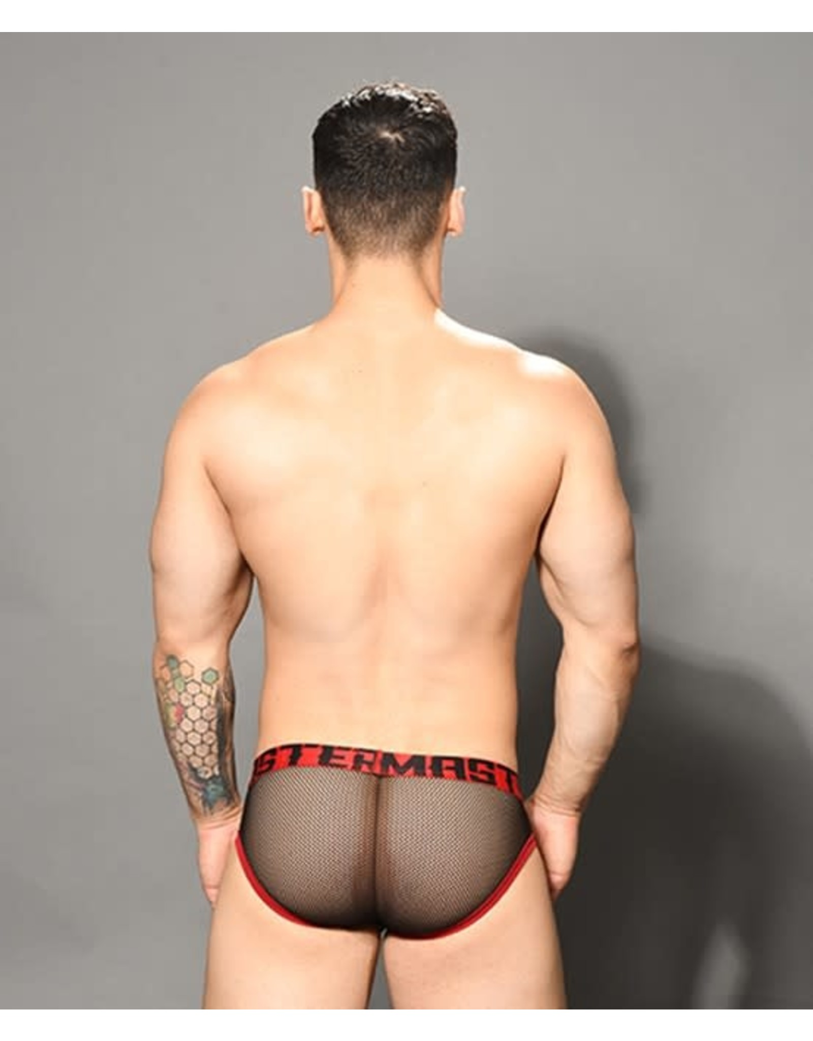 ANDREW CHRISTIAN - MASTER NET BRIEF W/ ALMOST NAKED BLACK/RED LARGE