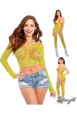 DREAMGIRL -  BODYSTOCKING / TOP - LIME - ONE SIZE