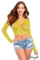 DREAMGIRL LINGERIE DREAMGIRL -  BODYSTOCKING / TOP - LIME - ONE SIZE
