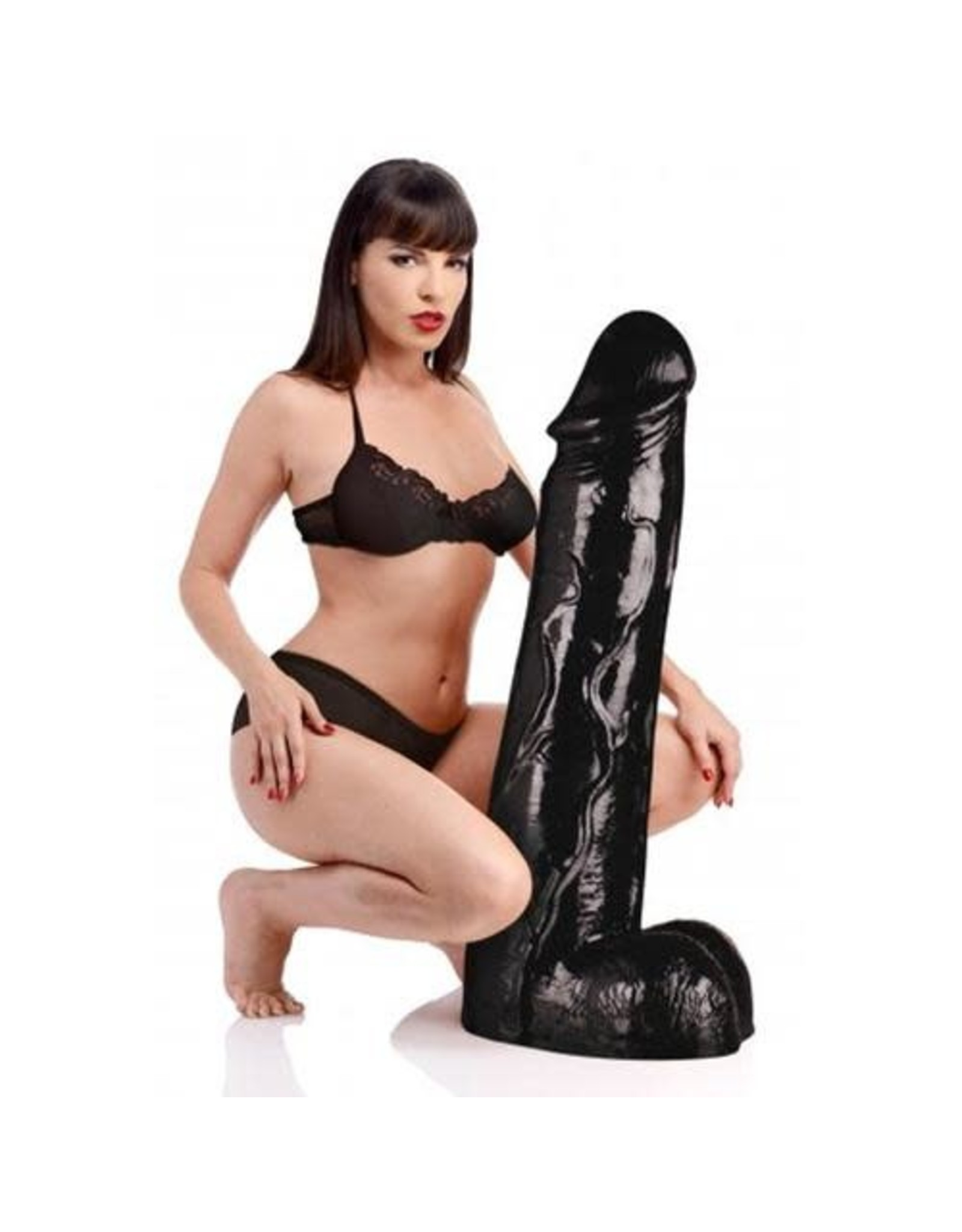 MASTER SERIES MOBY THE HUGE 3 FOOT TALL SUPER DILDO, BLACK