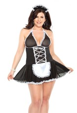 COQUETTE FRENCH MAID BABYDOLL COSTUME OSXL