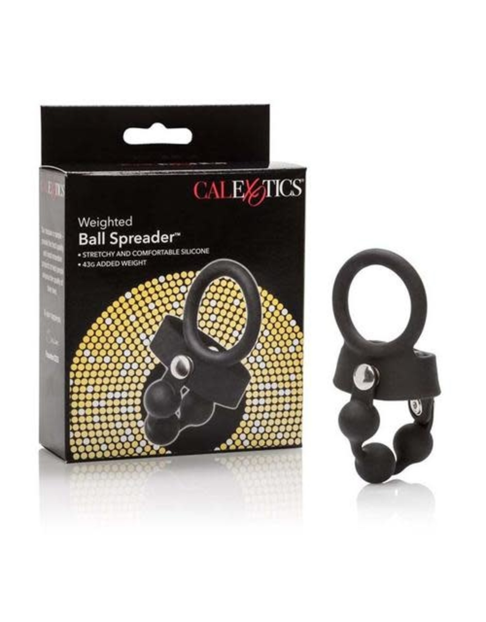 CALEXOTICS WEIGHTED BALL SPREADER - BLACK SILICONE