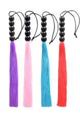 SILICONE WHIP WITH BEAD HANDLE BLUE