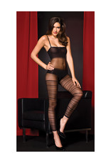 OPAQUE AND MESH BODYSTOCKING OS