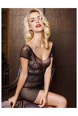 FISHNET SLEEVLESS BABYDOLL DRESS - OS