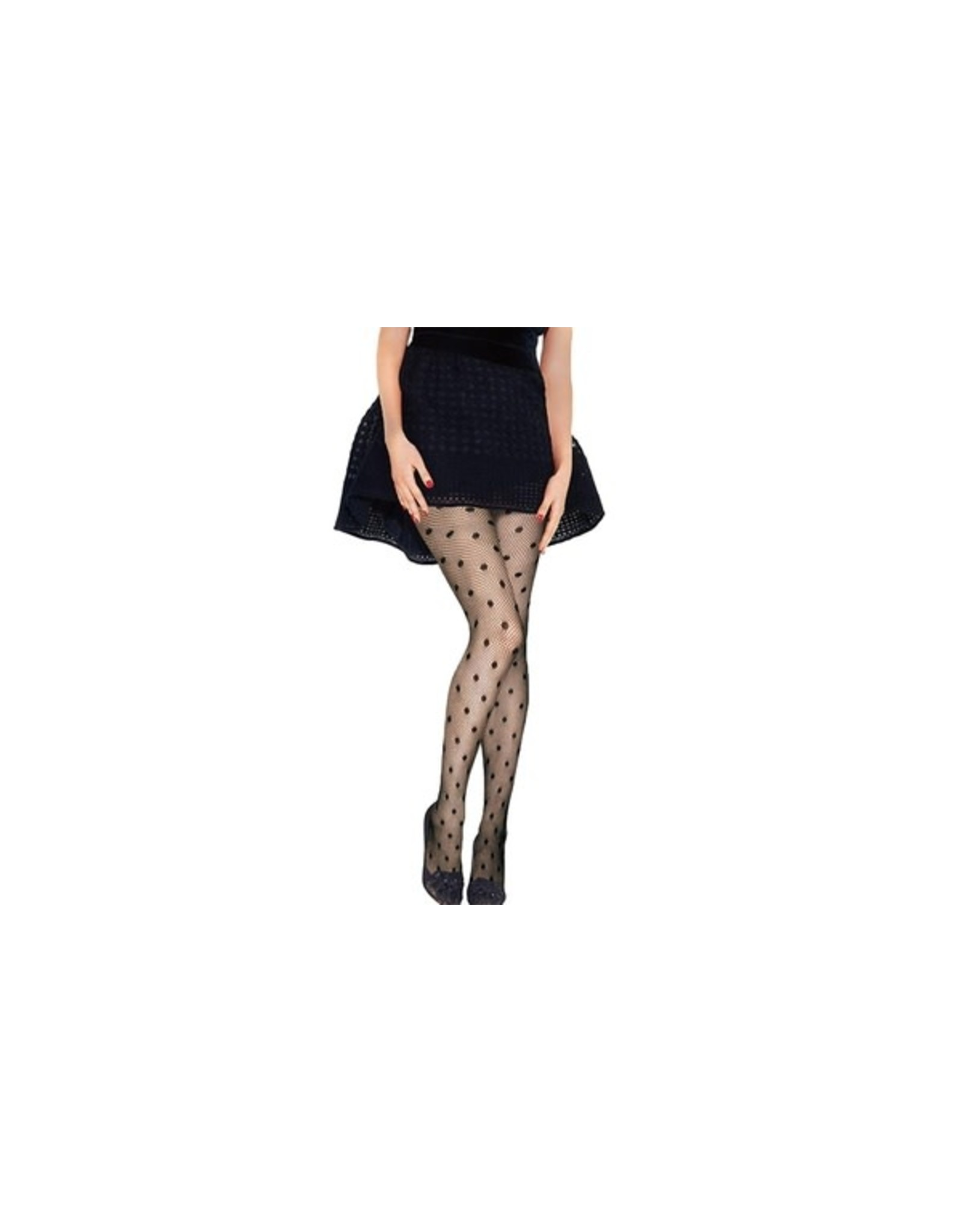 WOMEN'S SEXY FISHNET PANTYHOSE IN BLACK - ONE SIZE