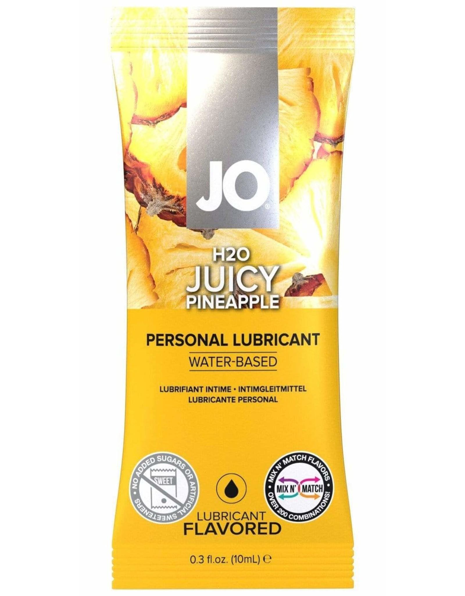 SYSTEM JO JO - H2O - FLAVOURED LUBRICANT -  JUICY PINEAPPLE 10ML