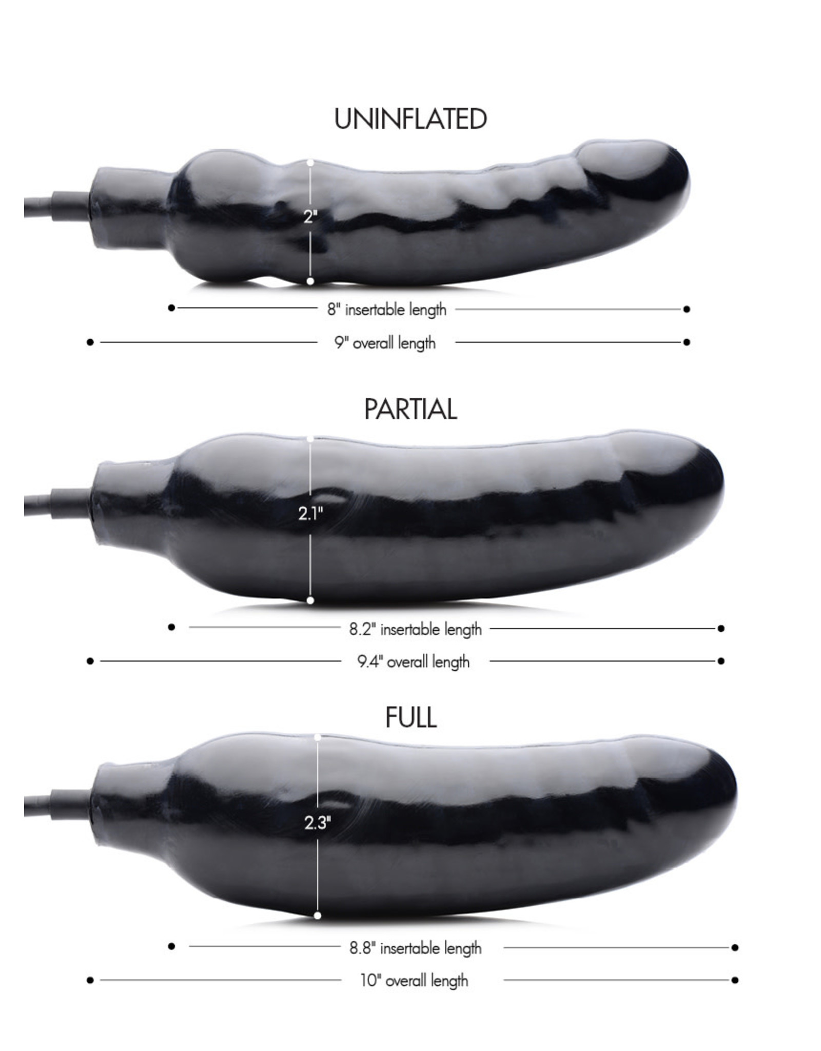 MASTER SERIES PRIMAL INFLATABLE DILDO