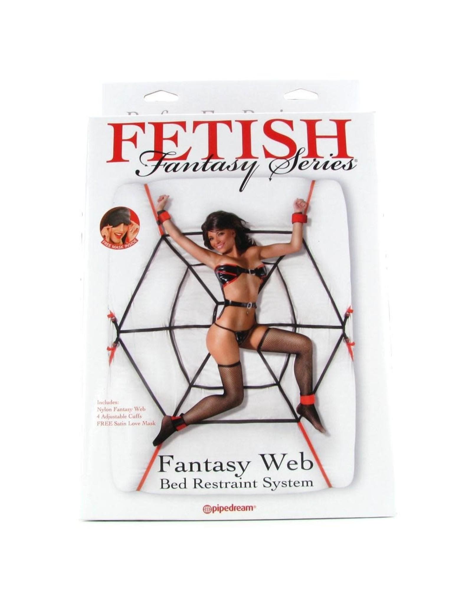 FETISH FANTASY FETISH FANTASY - WEB BED RESTRAINT SYSTEM