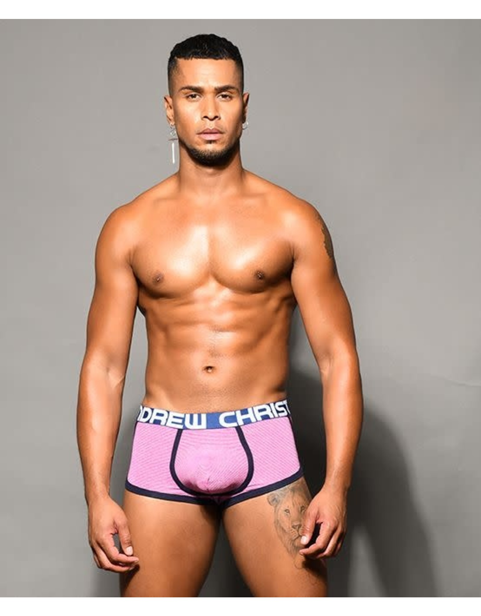 ANDREW CHRISTIAN ANDREW CHRISTIAN - CANDY STRIPE BOXER W/ ALMOST NAKED SMALL