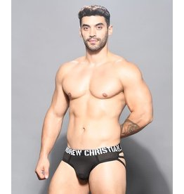 ANDREW CHRISTIAN ANDREW CHRISTIAN - REBEL MESH CAGE THONG W/ ALMOST NAKED LARGE