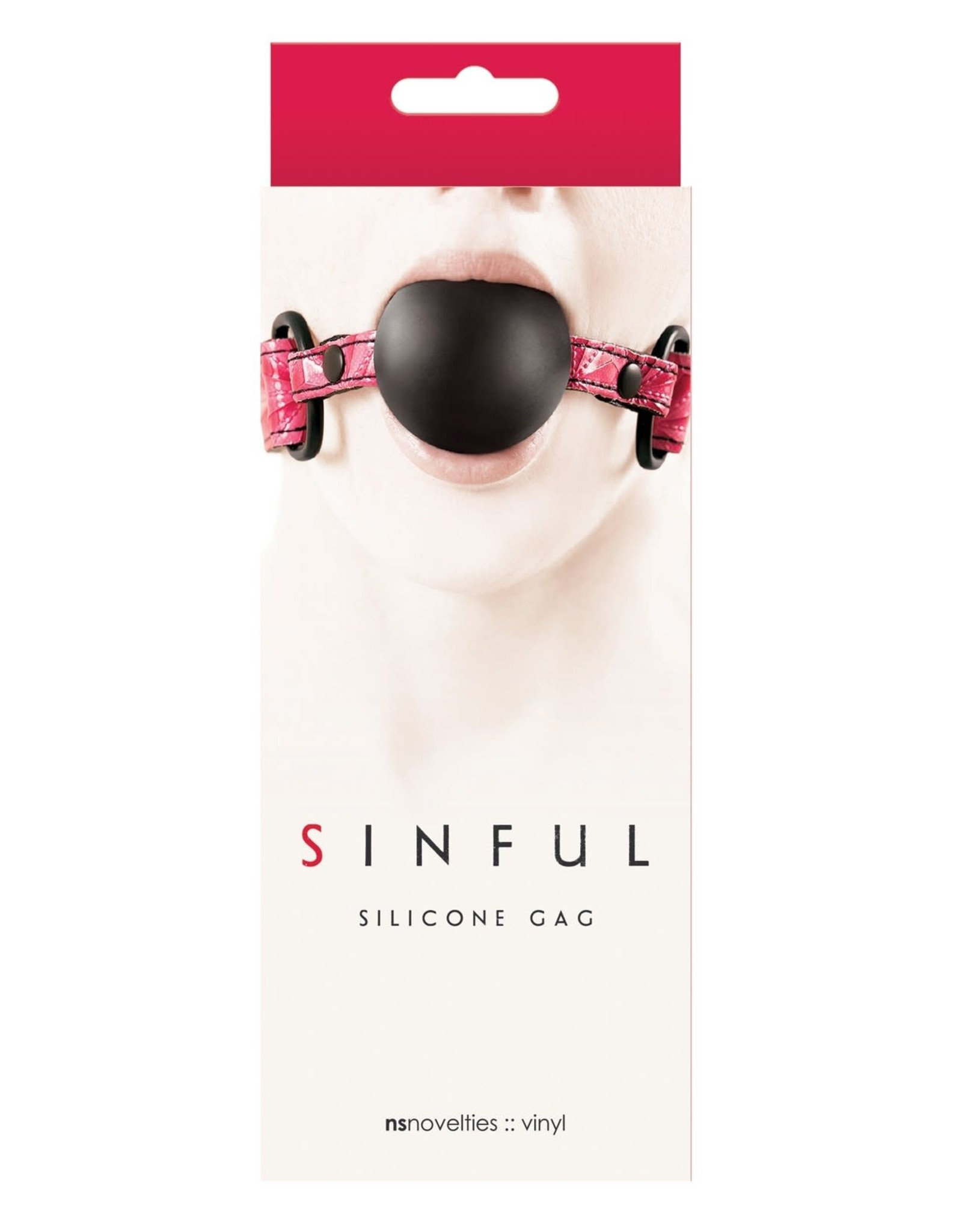 NS - SINFUL - SOFT SILICONE GAG - PINK