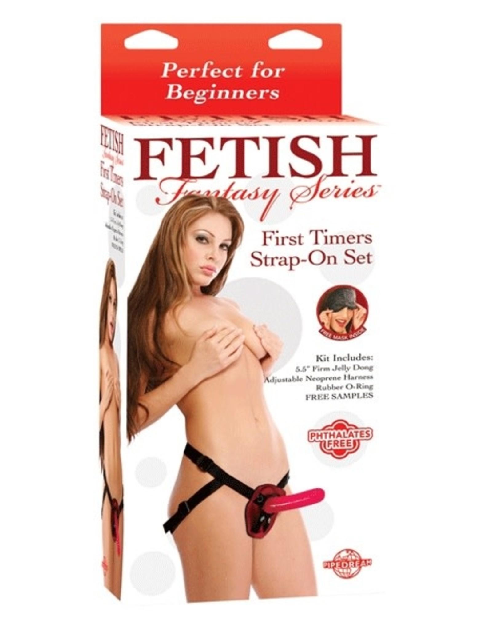 FETISH FANTASY FIRST TIMER'S STRAP-ON SET - RED - FETISH FANTASY