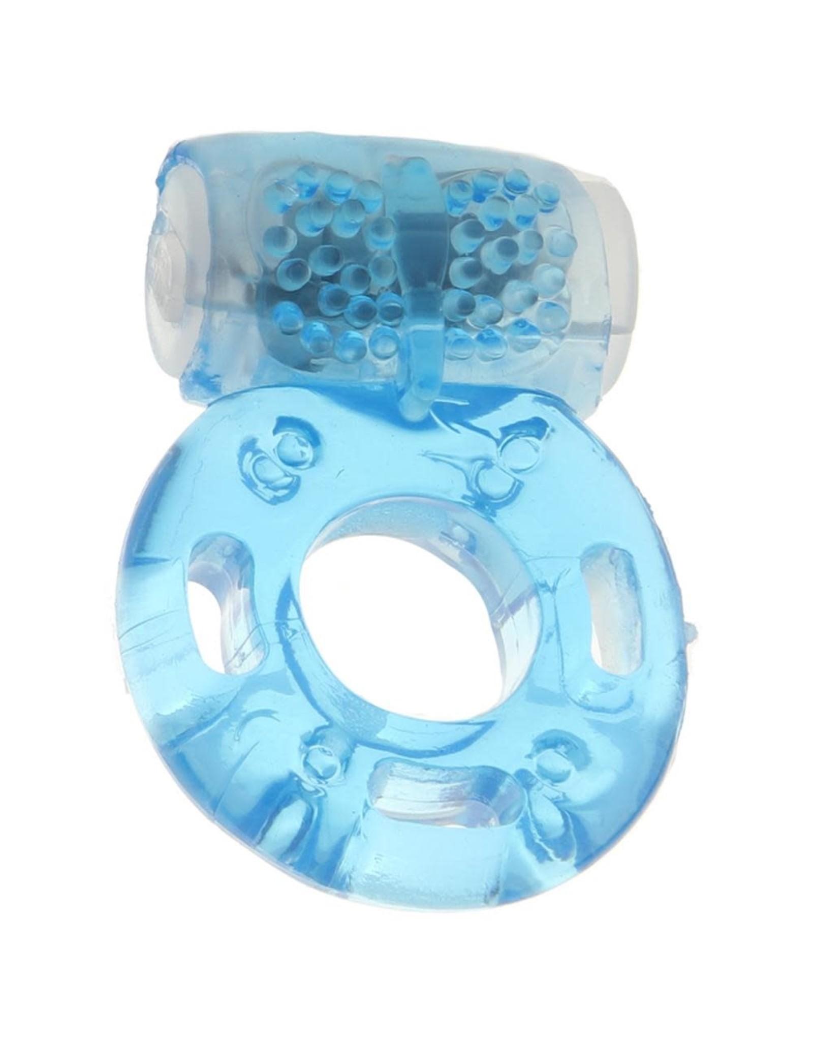 CALEXOTICS CALEXOTICS - FOIL PACK VIBRATING RING - BLUE